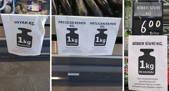 Büyük marketler zararına satışta pes etti: En fazla bir kilo almaya izin var