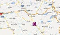 Denizli'de yine deprem: Büyüklük 4.3