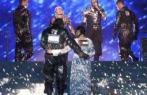 Eurovision finaline protestolar damga vurdu