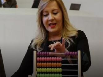 Meclis kürsüsünde AKP yalanlarını abaküsle saydı