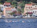 12 ülkeden 180 sporcu Yunanistan'dan Türkiye'ye barış için kulaç attı
