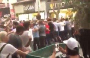 İmamoğlu'nun mitinginde AKP'li grup CHP'lilere saldırmaya çalıştı