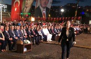 Erdoğan'ın sözleri üzerine alanı terk ettiler