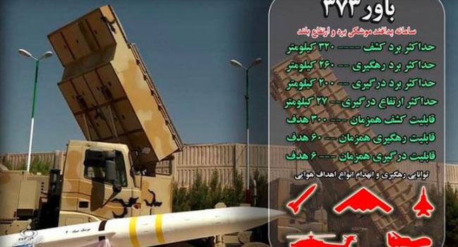 İran kendi hava savunma sistemini yaptı