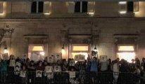 Koç'un önünde ''Osman Kavala'' eylemi