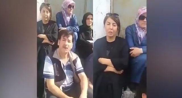 Bir grup aile, AKP İl Binası'nın önünde oturma eylemi başlattı