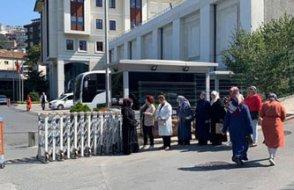 AKP'nin önündeki eylem devam etti