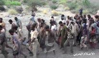 Esir alınan binlerce Suudi askerin görüntüsü yayınlandı