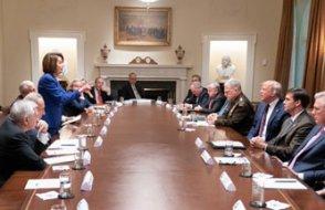 Beyaz Saray toplantısında kavga