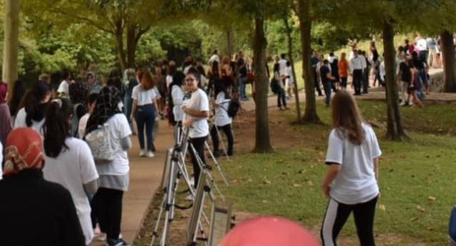 Genç aktivistler Teksas'ta mülteciler için koştu