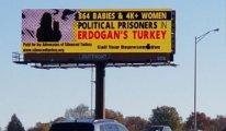 Erdoğan, ABD'de 'billboard eylemi' ile protesto edildi