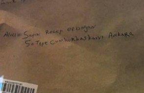 Erdoğan'a gönderilen zarfta 'siyanür' şüphesi