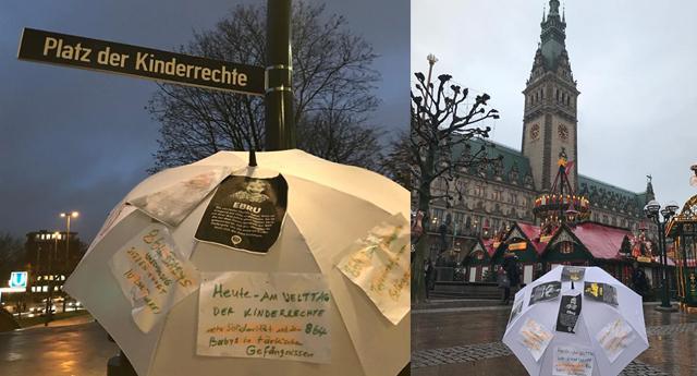 Hamburg'ta bir meydana 'Çocuk Hakları'  ismi verildi