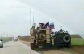 Suriye'de Amerikan ve Rus zırhlı araçları böyle kapıştı