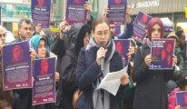 Almanya Köln'de kadınlara destek eylemi