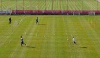 Bayern Münih'ten sosyal mesafeli idman