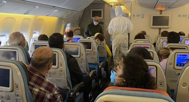 Uçakta çok kolay bulaşıyor