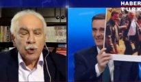 Canlı yayında Perinçek'in yüzüne Öcalan'lı fotoğrafı gösterildi