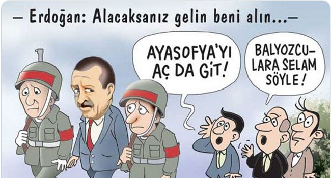 AKP'li isimler 8 yıl önceki karikatürü paylaştı