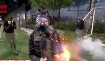 Canlı yayındaki muhabire gaz bombası
