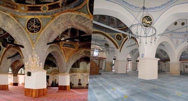 500 yıllık camiye boya-badana!