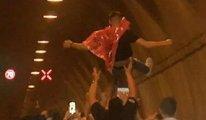 Uyarılara rağmen Asker uğurlama eğlencesi için İstanbul'da tünel kapattılar