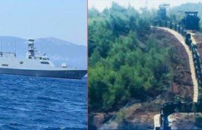 Yazlık Saray'ı savaş gemisi koruyor