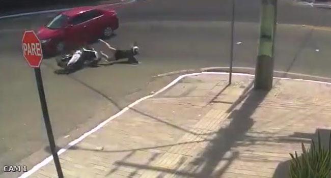İlginç kaza kameralarda
