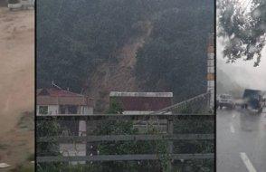 Trabzon'da sel ve heyelan! Mahsur kalanlar var