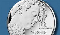 Zulme direnişin sembolü ' Beyaz Gül' Sophie Scholl için  hatıra parası