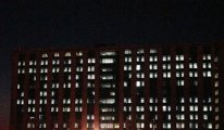 Pandemi hastanesindeki yoğunluk gece ışıklara yansıdı, Durum alarm verici