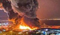 Beyrut'tan sonra  bir facia da İtalya'da ... Ancona limanında yangın çıktı