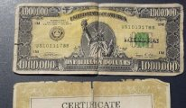 1 milyon dolarlık banknot!