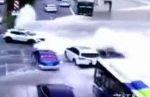 Çin'deki Med-Cezir dehşeti kameralarda