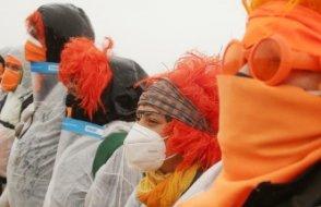 Almanya'da protestocular kömür madenini bastı