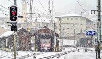 İsviçre'ye kar yağdı