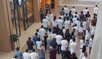 Şehir hastanesindeki hekimlerden 'ek ödeme' protestosu