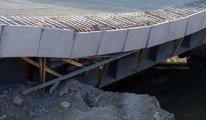 Türkiye'den bir inşaat manzarası: Köprü hizmete girmeden çöktü