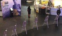Varşova Merkez Tren İstasyonu'nda çocuk hakları temalı resim sergisi