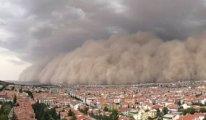 Ankara'daki toz fırtınası işaretti