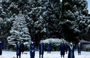 Boğaziçili akademisyenler  kar ve soğuğa rağmen protestolarını sürdürdü