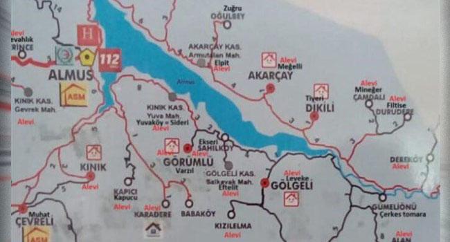 Sağlık Bakanlığının haritasında  Alevi köyleri kırmızıyla işaretlendi
