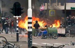Hollanda'da 'İç savaş' uyarısı:  Korona protestosu karıştı