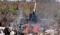 4 futbolcu ve bir başkanın hayatını kaybettiği uçak kazasının görüntüsü çıktı