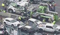 ABD'de inanılmaz kaza! Yüz araç birbirine girdi