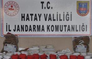 Karakol komutanının aracında 82 kg uyuşturucu yakalandı