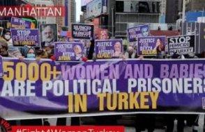 Times Meydanı'nda Erdoğan Rejimi protesto edildi