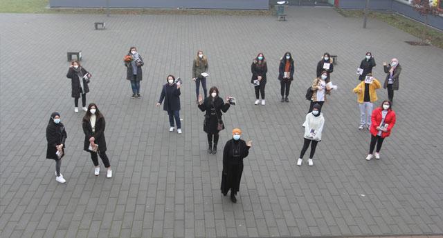 Eringerfeld'li öğrencilerden kadınlar günü kutlaması