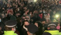 Londra'da kadın cinayeti protestosuna polis müdahale etti
