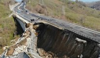 Limak tarafından yapılan Düzce-Zonguldak karayolu çöktü!